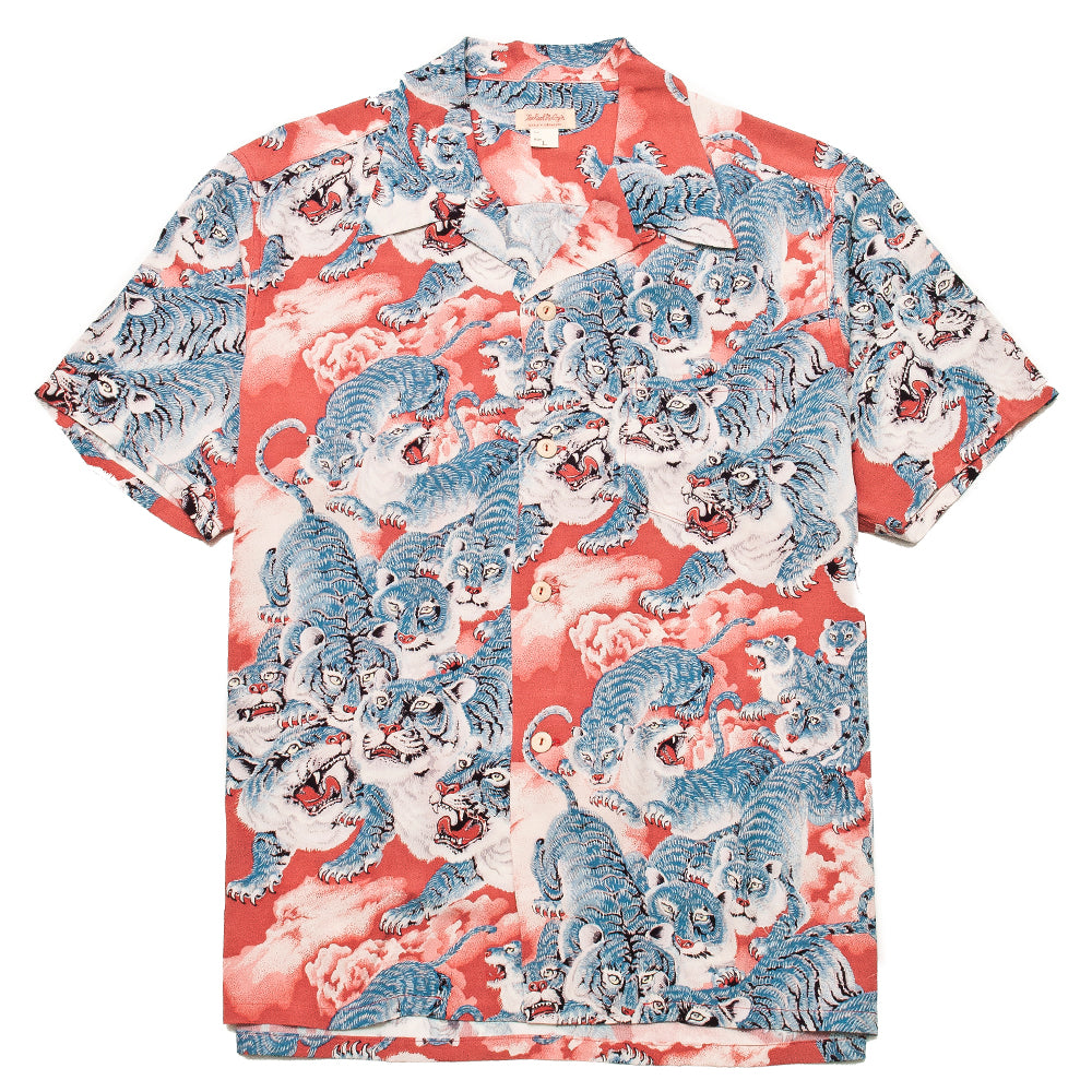The Real McCoy's Hawaiian Shirt Hyaku-Tora MS18002 at shoplostfound, front