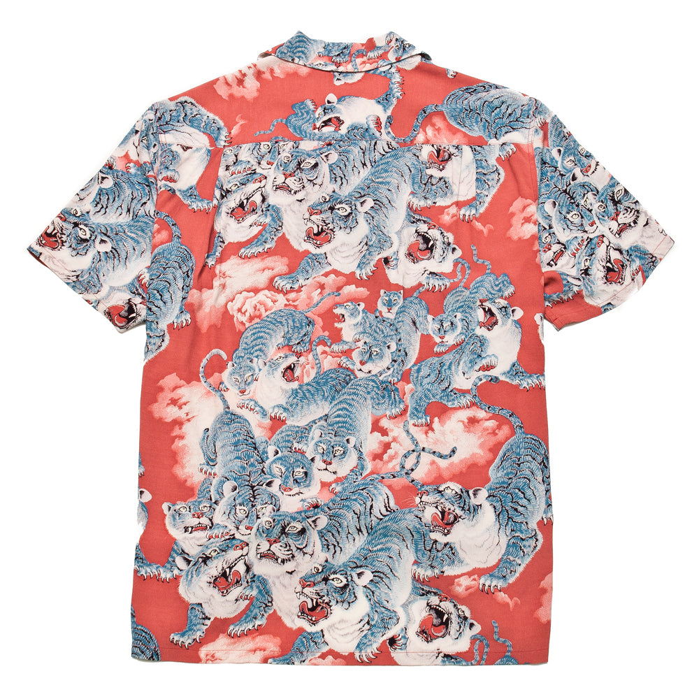 The Real McCoy's Hawaiian Shirt Hyaku-Tora MS18002 at shoplostfound, back