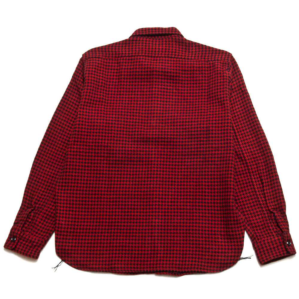 The Real McCoy's Houndstooth Shirt Red/Black at shoplostfound, back