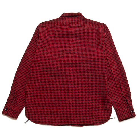 The Real McCoy's Houndstooth Shirt Red/Black at shoplostfound, front