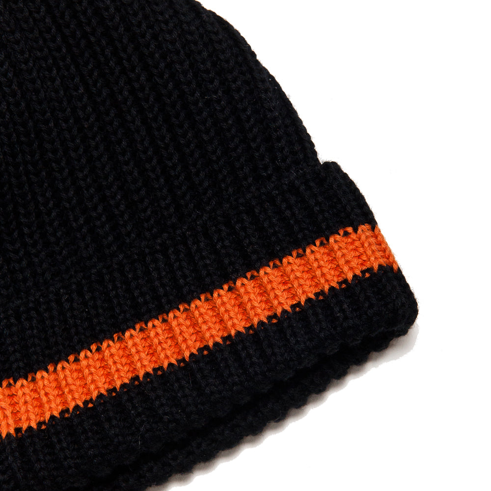 The Real McCoy's Joe McCoy Cotton Knit Bobble Cap Black AT SHOPLOSTFOUND, BAND