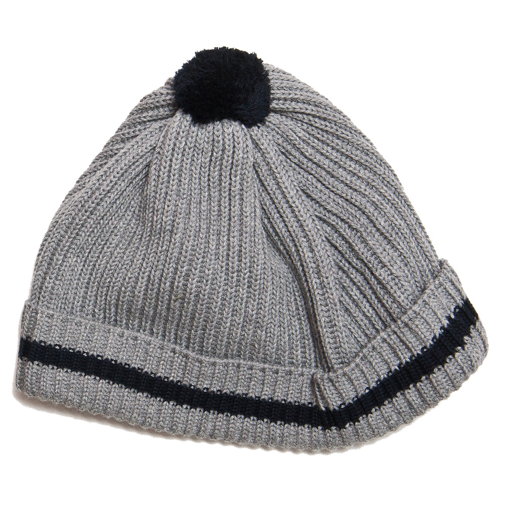 The Real McCoy's Joe McCoy Cotton Knit Bobble Cap Grey at shoplostfound, front