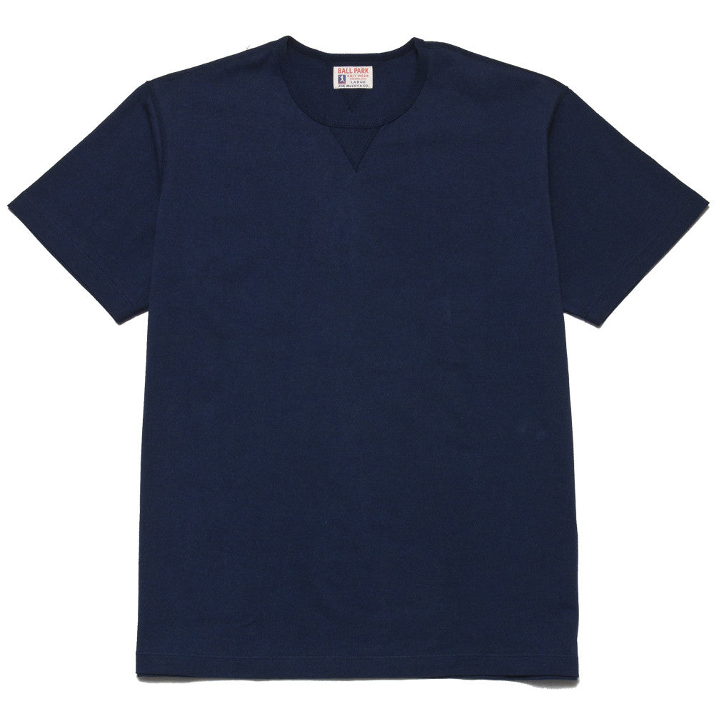 The Real McCoy's Joe McCoy Gusset Athletic Tee Navy at shoplostfound, front