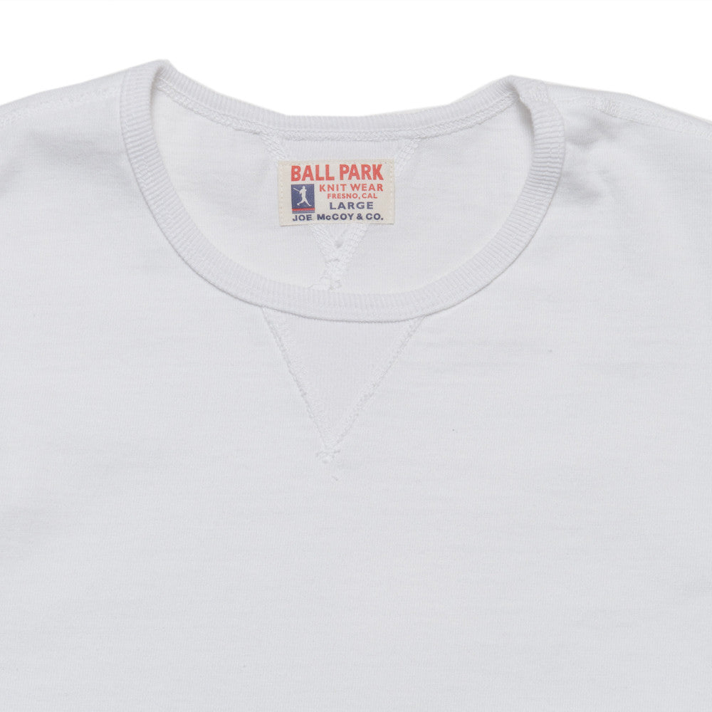 The Real McCoy's Joe McCoy Gusset Athletic Tee White at shoplostfound, neck