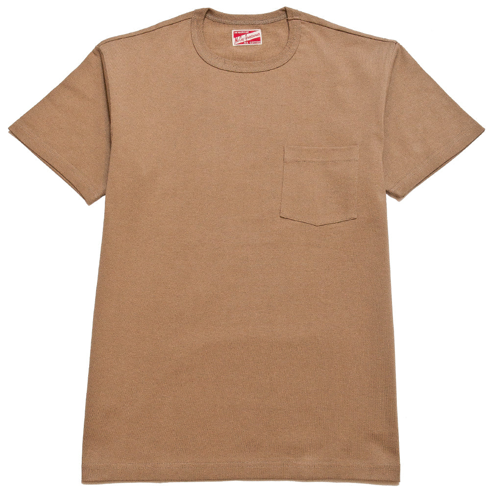 The Real McCoy's MC19012 Overdyed Sportswear Pocket Tee Chestnut at shoplostfound, front