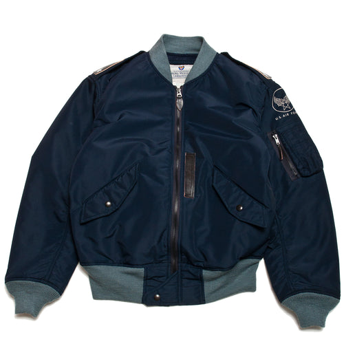 The Real McCoy's L-2A Test Sample Flight Jacket Navy at shoplostfound, front