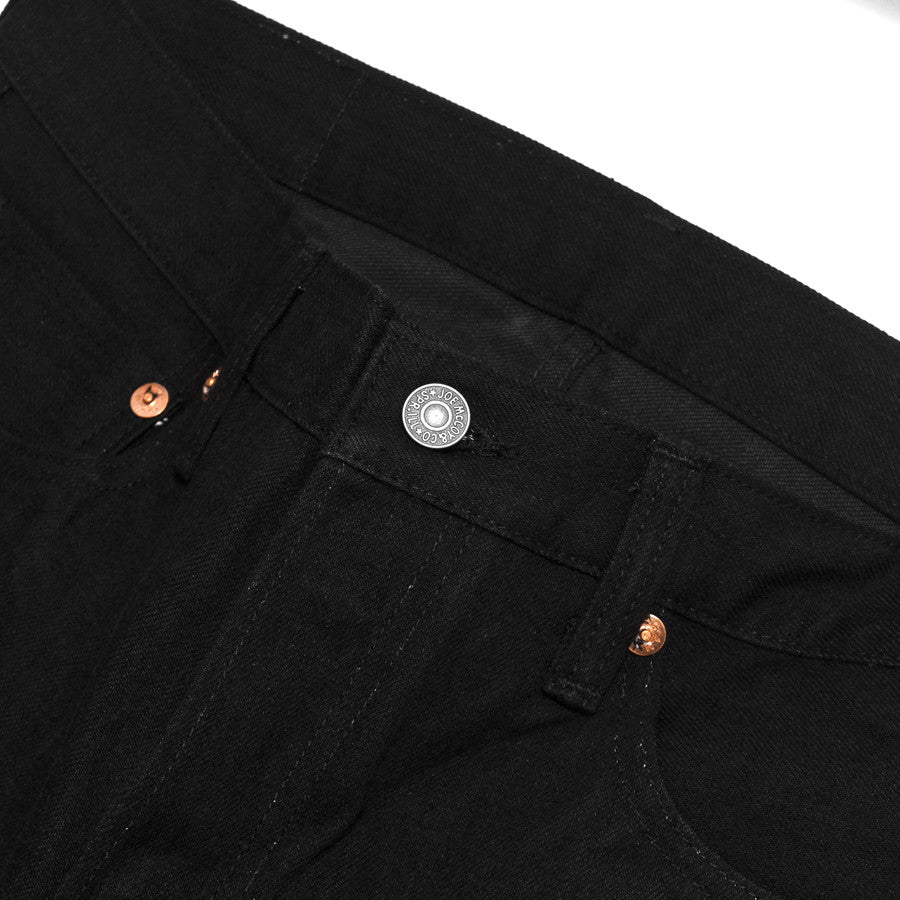 The Real McCoy's Joe McCoy Lot.991BK Black Denim at shoplostfound in Toronto, hardware and waist