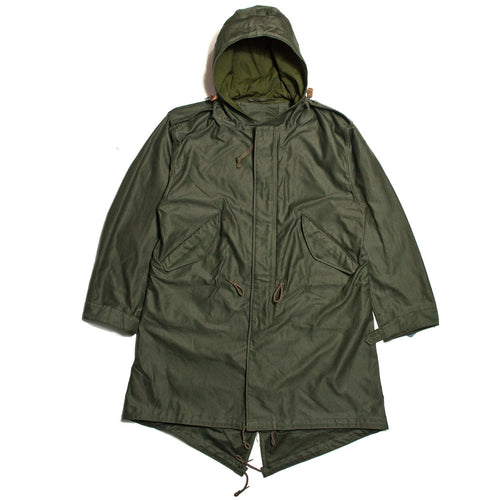 The Real McCoy's MJ13151 M-1951 Parka-Shell Olive Green at shoplostfound in Toronto, front