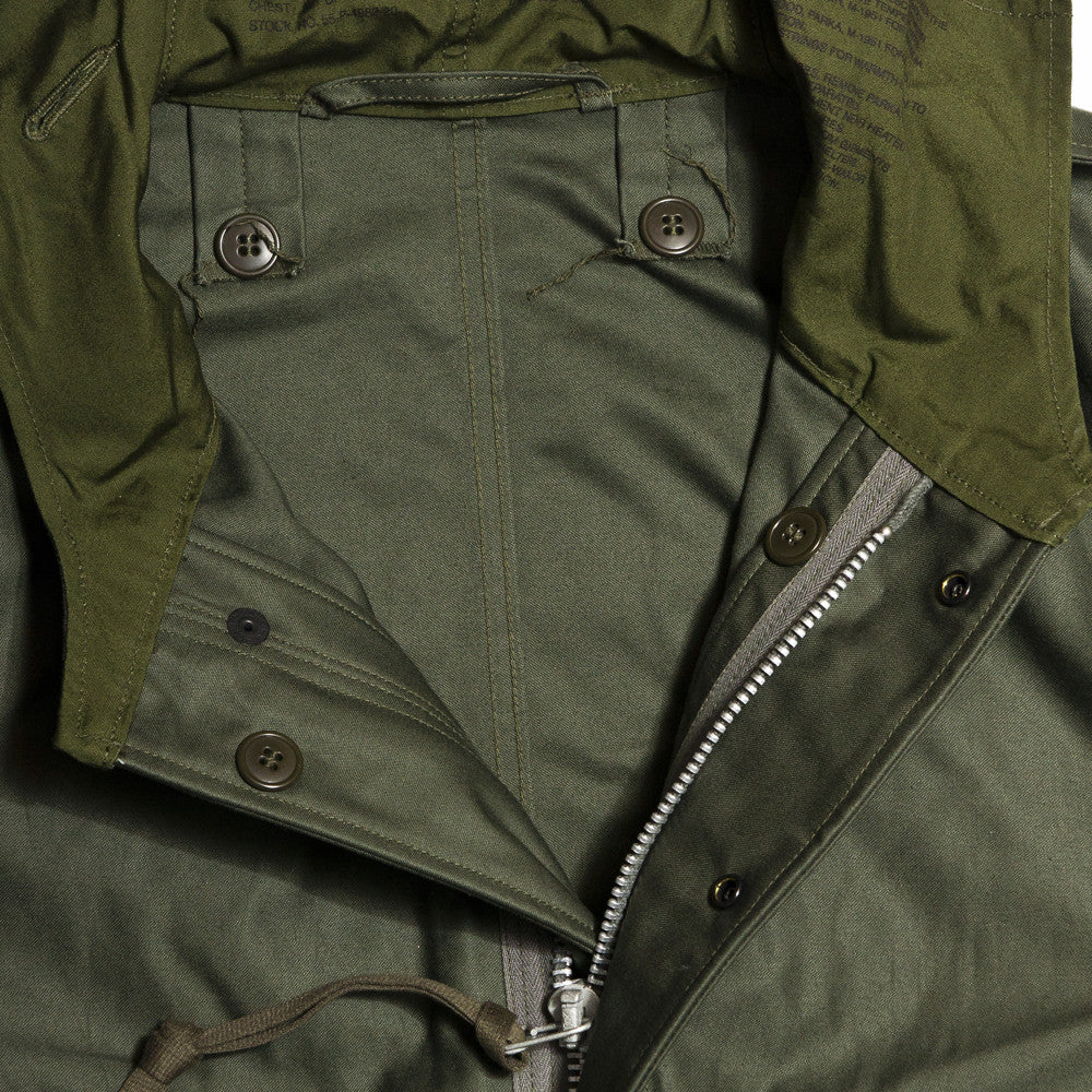 The Real McCoy's MJ13151 M-1951 Parka-Shell Olive Green at shoplostfound in Toronto, collar