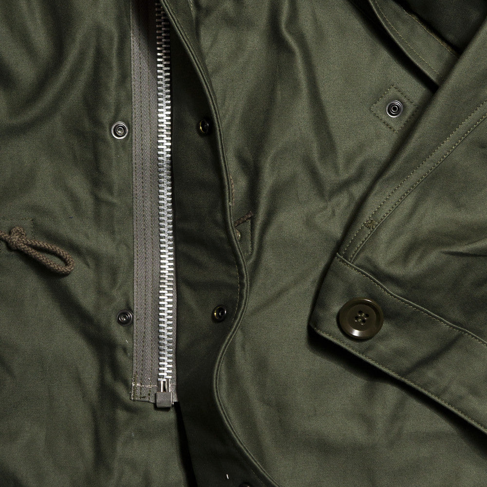 The Real McCoy's MJ13151 M-1951 Parka-Shell Olive Green at shoplostfound in Toronto, zipper