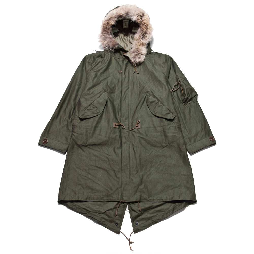 The Real McCoy's M-1948 Fishtail Mod Parka at shoplostfound, front