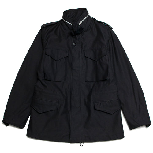 The Real McCoy's M-65 Field Jacket Black Overdye at shoplostfound, front