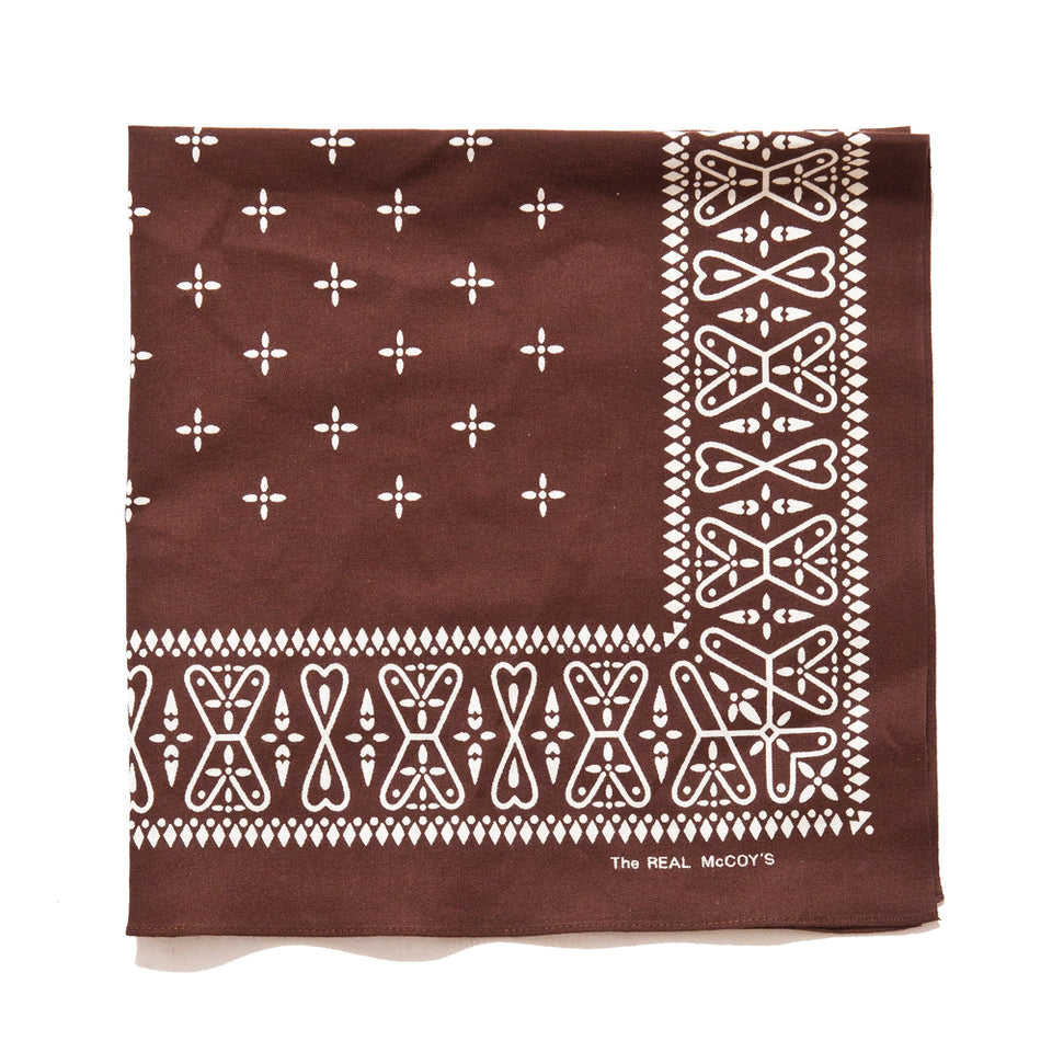 The Real McCoy's MA19016 Bandana / Cross Brown at shoplostfound, front