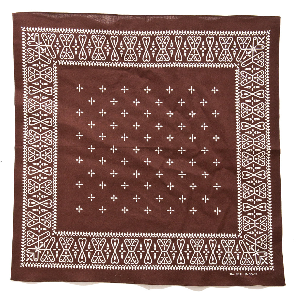 The Real McCoy's MA19016 Bandana / Cross Brown at shoplostfound, full