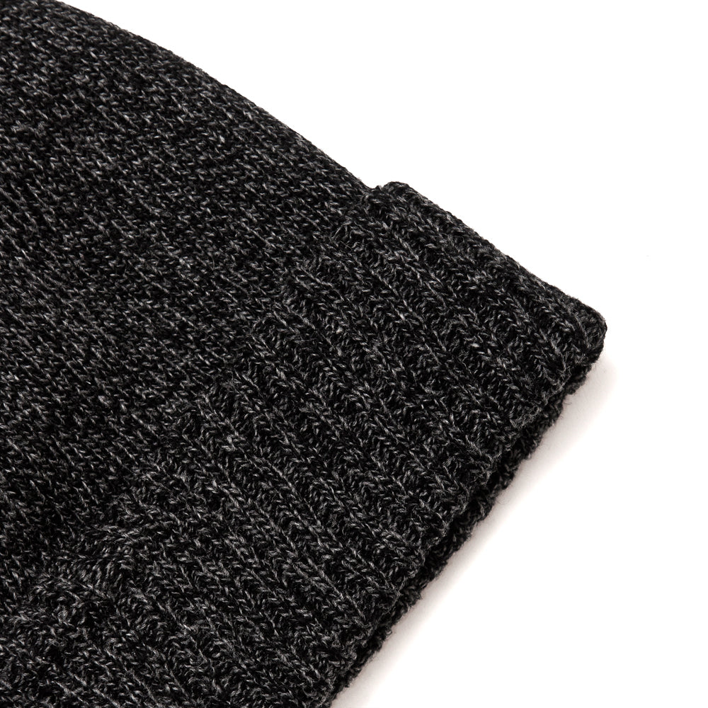 The Real McCoy's MA19108 Wool Logger Knit Cap Black at shoplostfound, detail