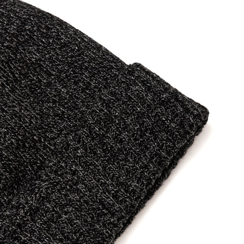 The Real McCoy's MA19108 Wool Logger Knit Cap Black at shoplostfound, front