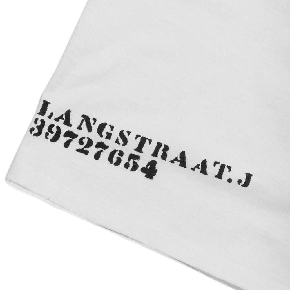 The Real McCoy's MC17003 Cotton Stencil Undershirts White at shoplostfound, detail