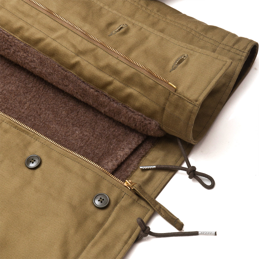 The Real McCoy's MJ13111 N-1 Deck Jacket Khaki at shoplostfound, detail
