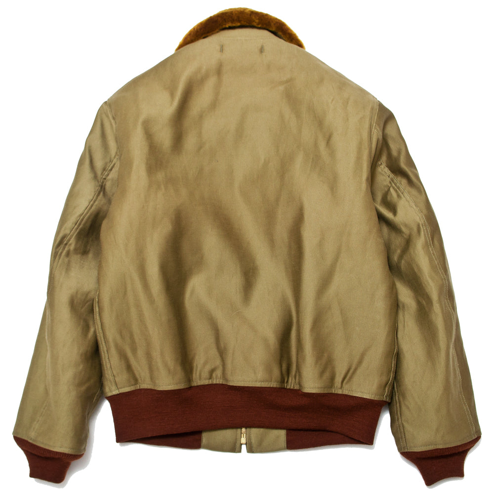 The Real McCoy's MJ19111 U.S.N. Cotton Flight Jacket Khaki at shoplostfound, back