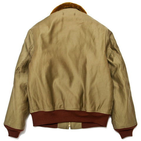 The Real McCoy's MJ19111 U.S.N. Cotton Flight Jacket Khaki at shoplostfound, front