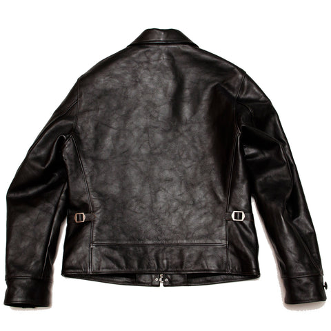 The Real McCoy's MJ19115 30's Leather Sports Jacket / Nelson Black at shoplostfound, front