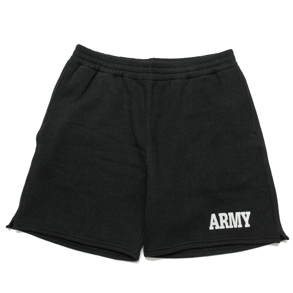 The Real McCoy's Physical Fitness Sweatshorts Army MC19001 at shoplostfound, front
