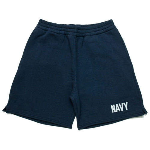 The Real McCoy's Physical Fitness Sweatshorts Navy MC19002 at shoplostfound, front