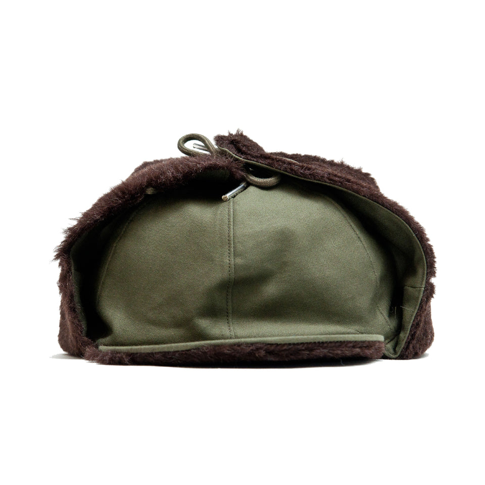 The Real McCoy's Pile Field Cap Olive at shoplostfound, front