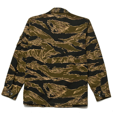 The Real McCoy's Tiger Camouflage Shirt John Wayne MJ18012 at shoplostfound, front
