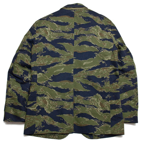 The Real McCoy's Tiger Camouflage Suit Jacket Purple Fade at shoplostfound, front