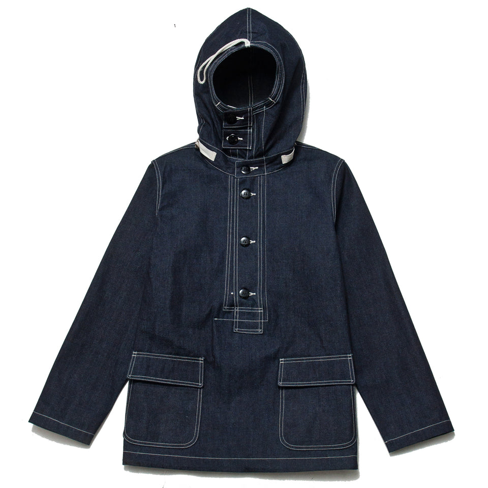 The Real McCoy's US Navy Denim Parka MJ18017 at shoplostfound, front
