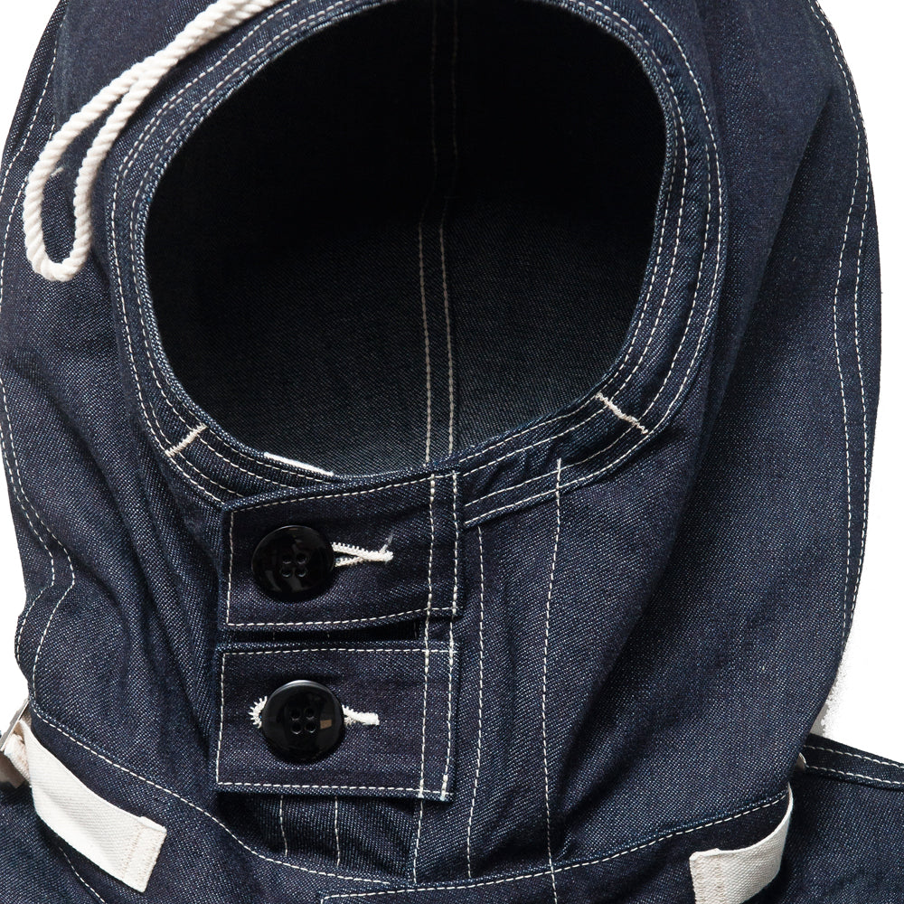 The Real McCoy's US Navy Denim Parka MJ18017 at shoplostfound, neck
