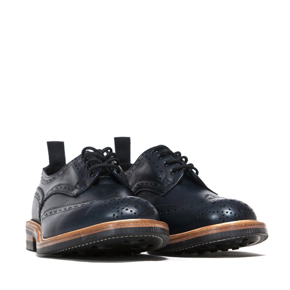 Tricker's * lost & found Navy Analine Brogue at shoplostfound, 45
