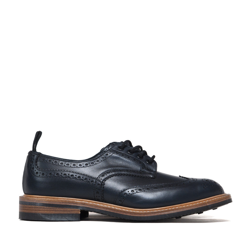 Tricker's * lost & found Navy Analine Brogue at shoplostfound, side