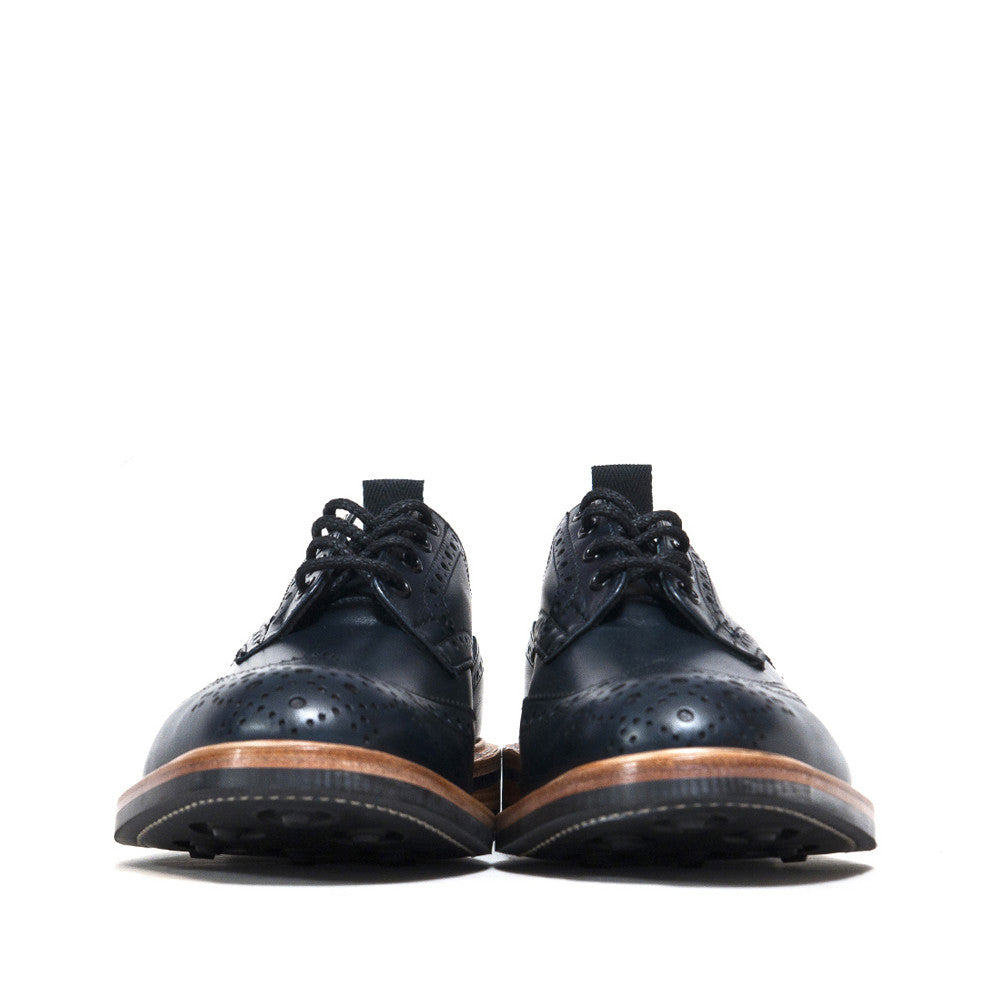 Tricker's * lost & found Navy Analine Brogue at shoplostfound, front