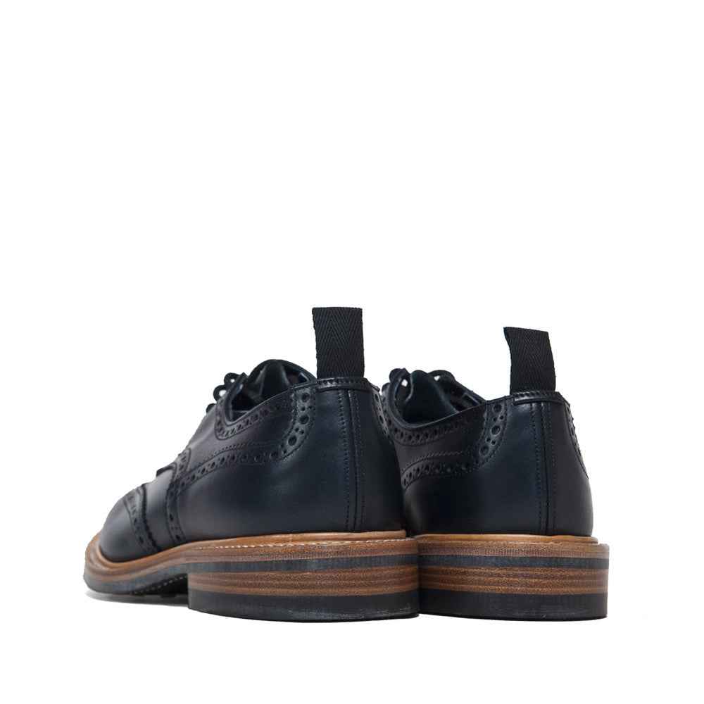 Tricker's * lost & found Navy Analine Brogue at shoplostfound, back