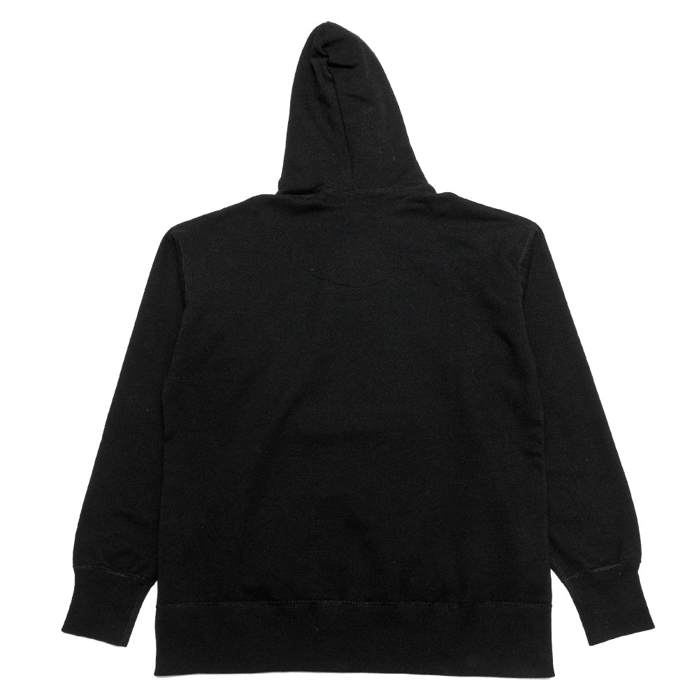 uniforme inc. Heavyweight Hoodie Black at shoplostfound, back