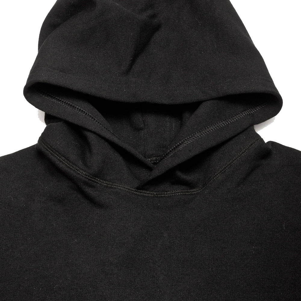 uniforme inc. Heavyweight Hoodie Black at shoplostfound, neck