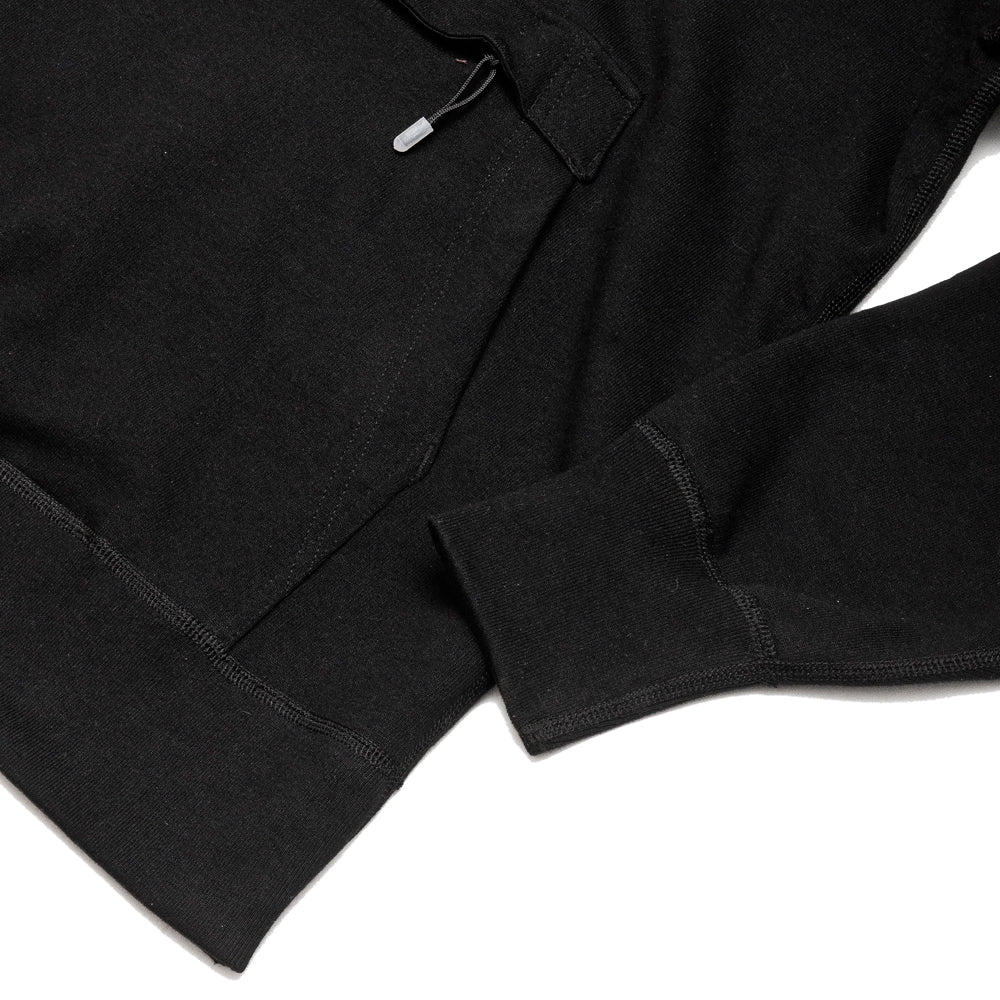 uniforme inc. Heavyweight Hoodie Black at shoplostfound, cuff