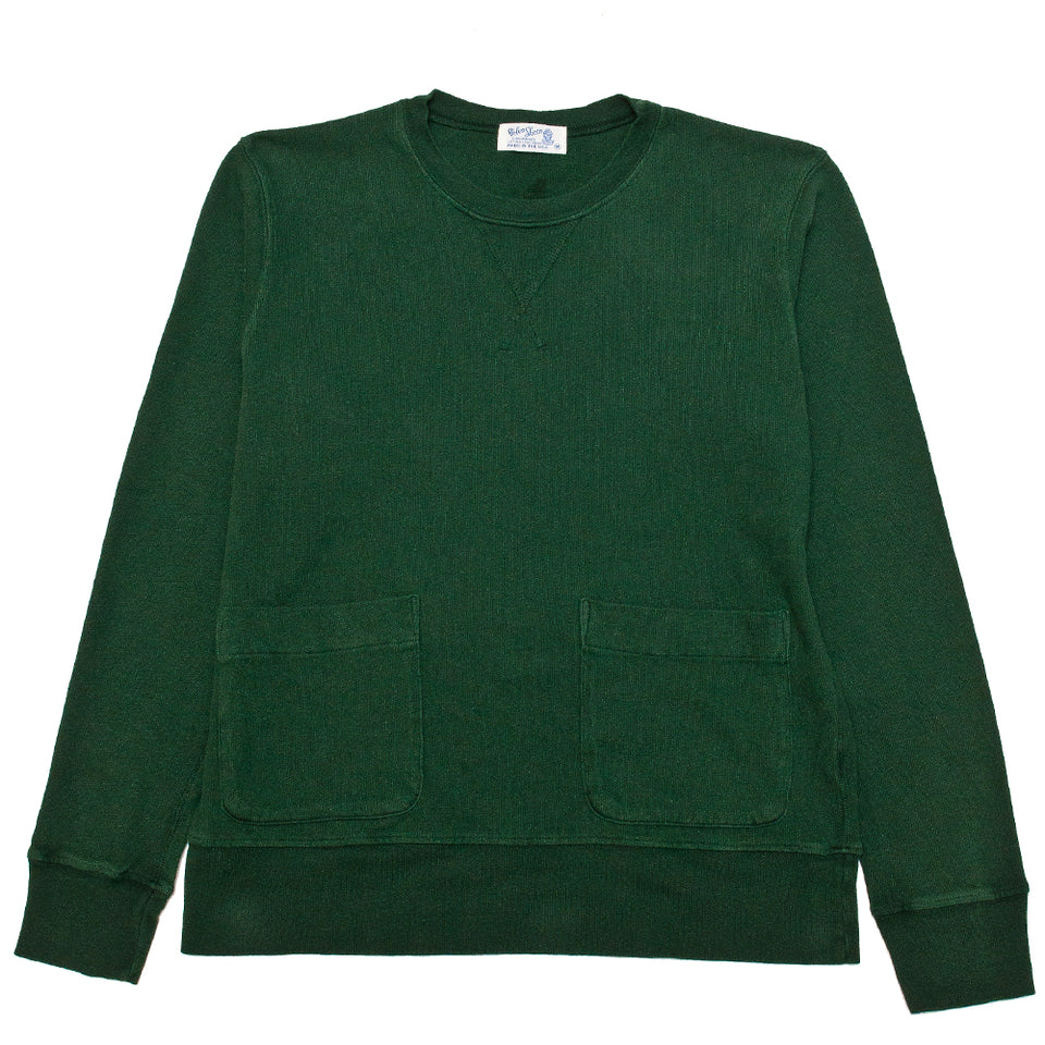 Velva Sheen Heavy oz Pigment Crewneck Sweat Green at shoplostfound, front