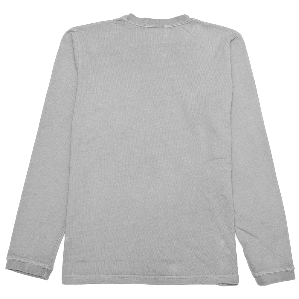 Velva Sheen Heavy oz Pigment Long Sleeve Pocket Tee Grey at shoplostfound, back