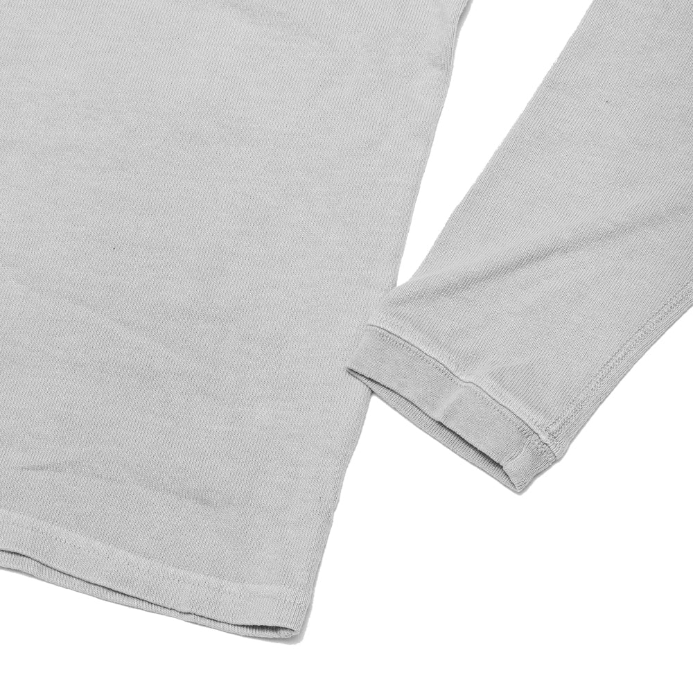 Velva Sheen Heavy oz Pigment Long Sleeve Pocket Tee Grey at shoplostfound, cuff