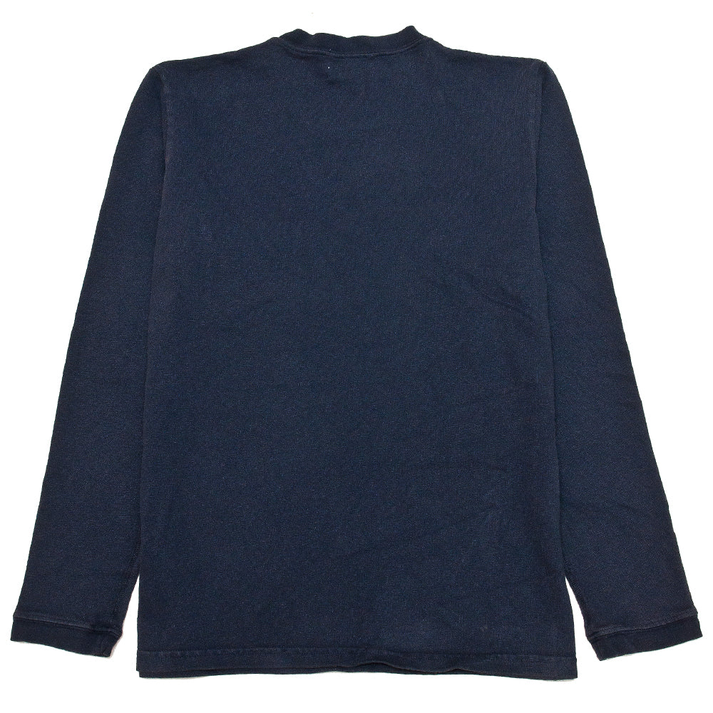 Velva Sheen Heavy oz Pigment Long Sleeve Pocket Tee Navy at shoplostfound, back