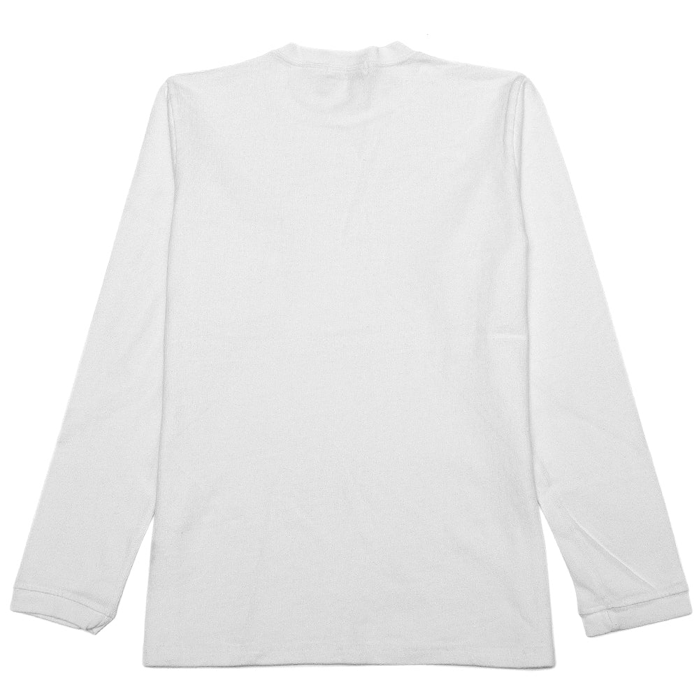 Velva Sheen Heavy oz Pigment Long Sleeve Pocket Tee White at shoplostfound, back