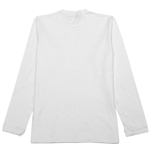 Velva Sheen Heavy oz Pigment Long Sleeve Pocket Tee White at shoplostfound, front
