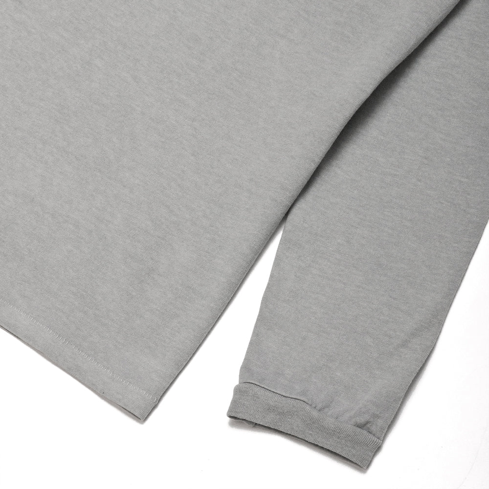 Velva Sheen Pigment Dyed Long Sleeve Pocket T-Shirt Grey at shoplostfound, cuff
