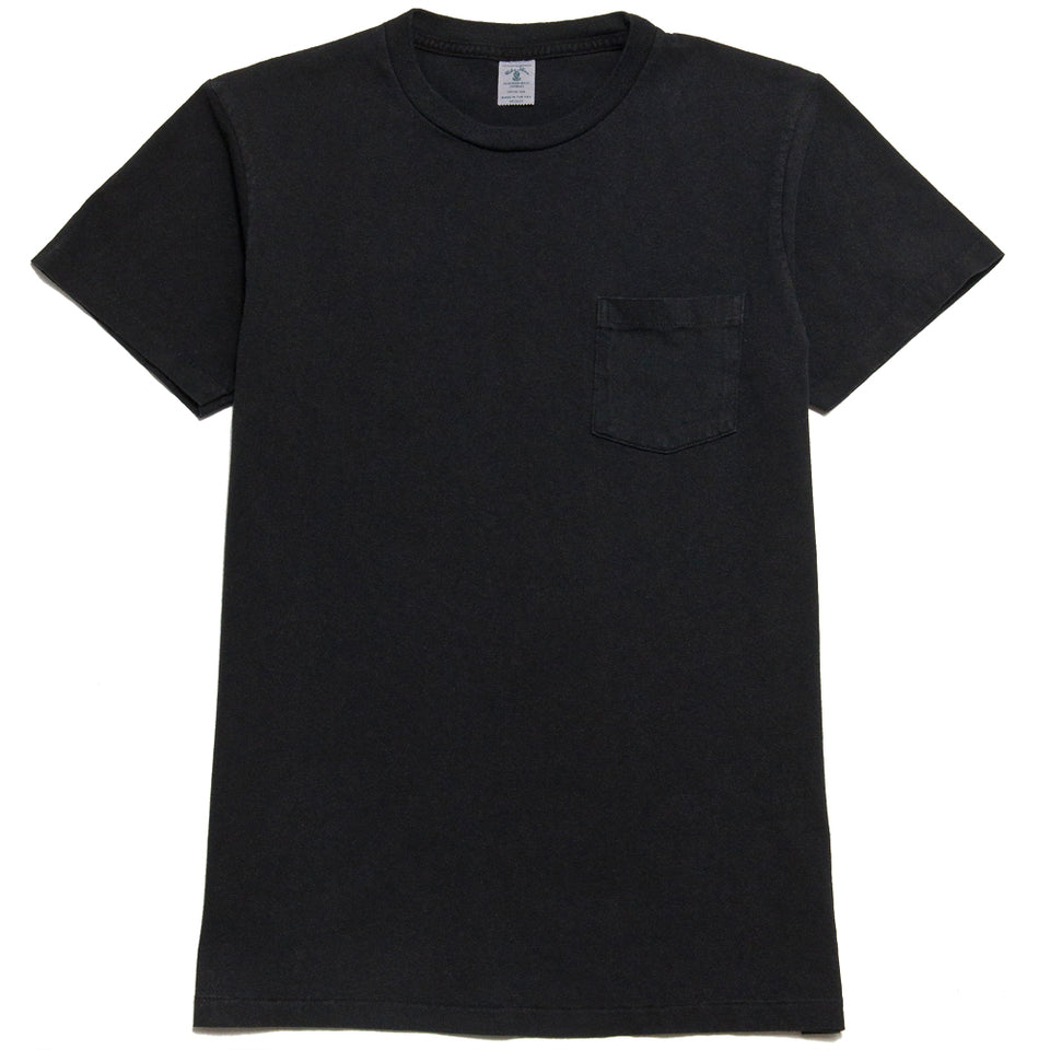 Velva Sheen Pigment Dyed Pocket T-Shirt Charcoal at shoplostfound, front