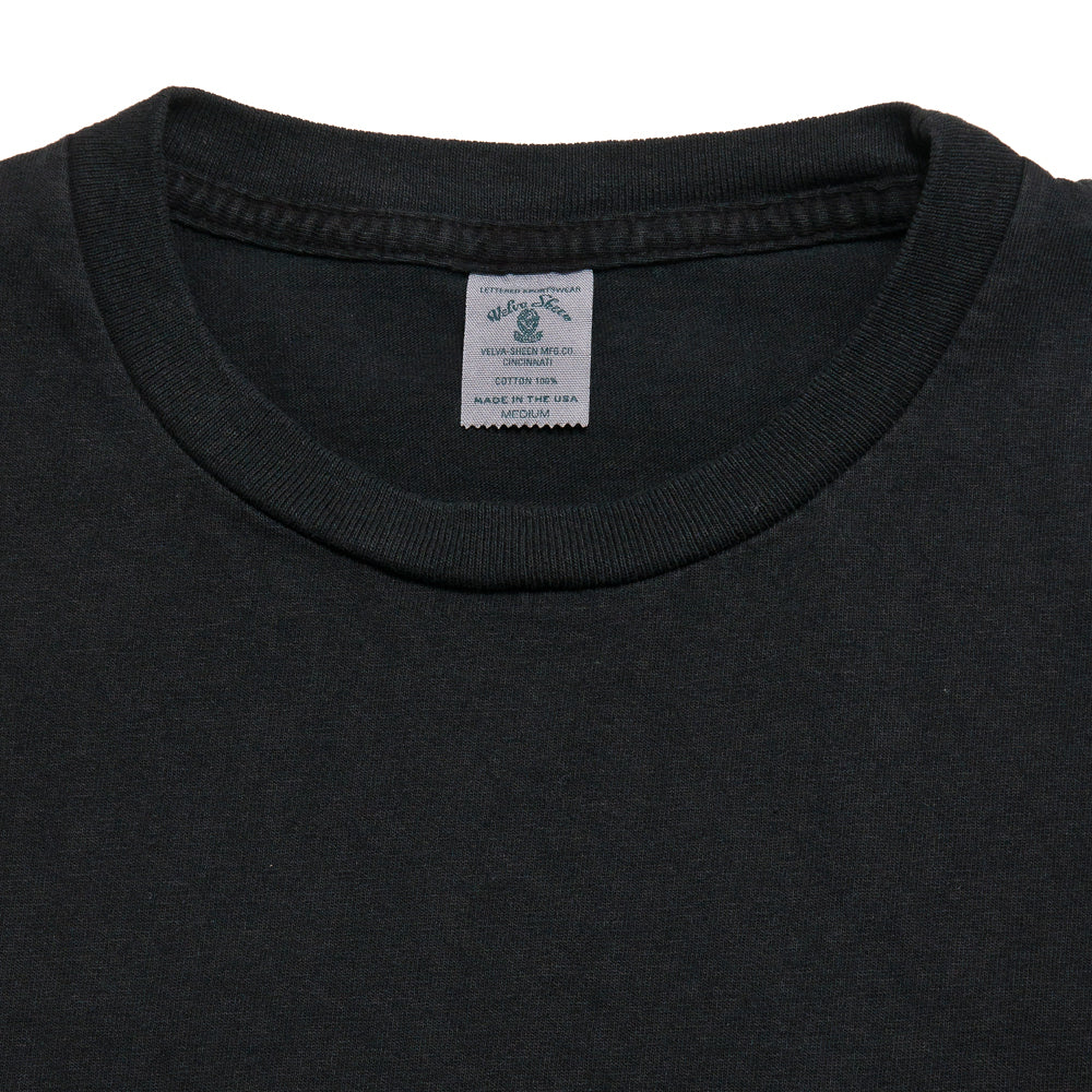 Velva Sheen Pigment Dyed Pocket T-Shirt Charcoal at shoplostfound, neck