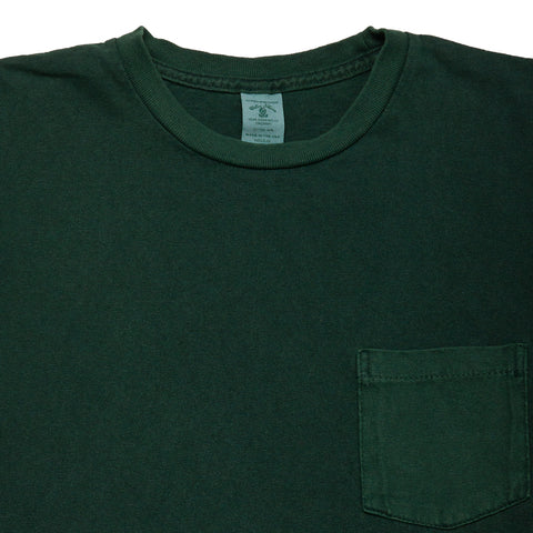 Velva Sheen Pigment Dyed Pocket T-Shirt Green at shoplostfound, front
