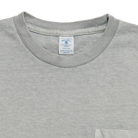 Velva Sheen Pigment Dyed Pocket T-Shirt Smoke at shoplostfound, front